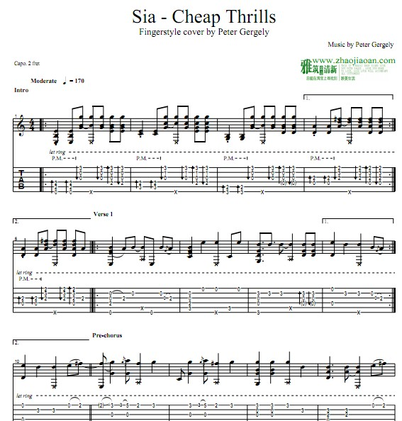 Cheap Thrills - Sia 吉他谱