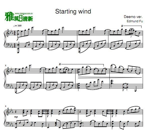 Starting Wind - Edmund Fu钢琴谱