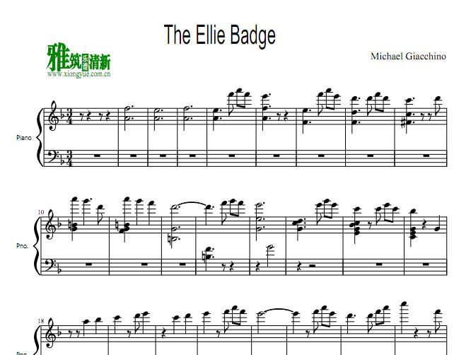 The Ellie Badge钢琴谱