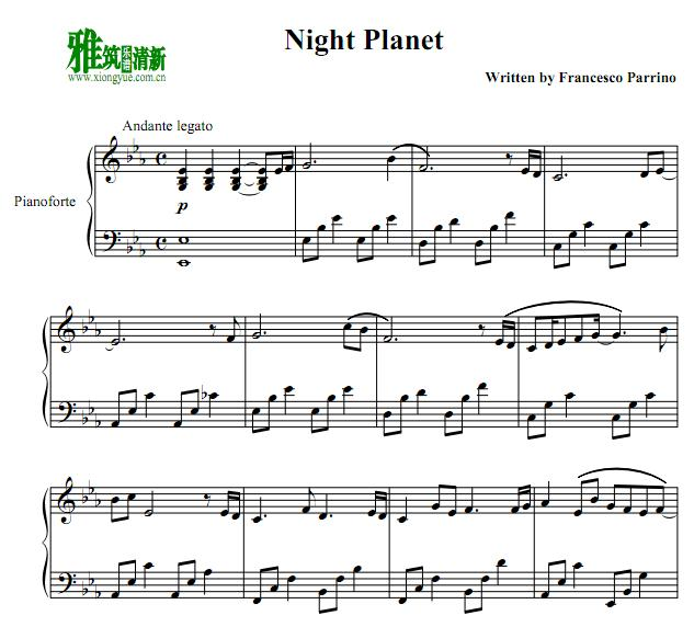 Francesco Parrino - Night Planet钢琴谱