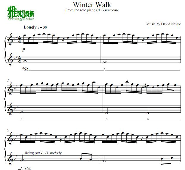 david nevue - winter walk钢琴谱